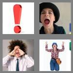 4 pics 1 word 7 letters exclaim