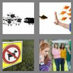 4 pics 1 word 7 letters exclude
