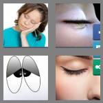 4 pics 1 word 7 letters eyelids