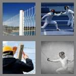 4 pics 1 word 7 letters fencing
