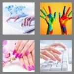 4 pics 1 word 7 letters fingers