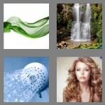 4 pics 1 word 7 letters flowing