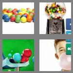 4 pics 1 word 7 letters gumball
