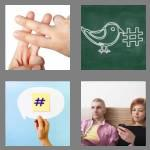4 pics 1 word 7 letters hashtag