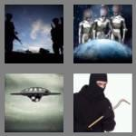 4 pics 1 word 7 letters invader
