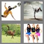 4 pics 1 word 7 letters kicking
