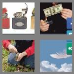 4 pics 1 word 7 letters lighter