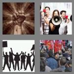 4 pics 1 word 7 letters protest