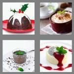 4 pics 1 word 7 letters pudding