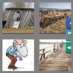 4 pics 1 word 7 letters rickety