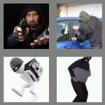 4 pics 1 word 7 letters robbery