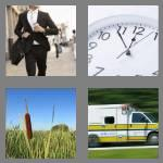 4 pics 1 word 7 letters rushing