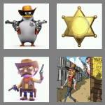 4 pics 1 word 7 letters sheriff
