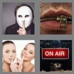 4 pics 1 word 7 letters silence