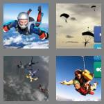 4 pics 1 word 7 letters skydive