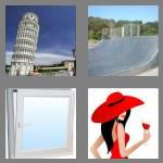 4 pics 1 word 7 letters slanted