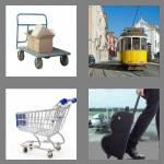 4 pics 1 word 7 letters trolley
