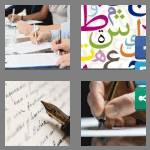 4 pics 1 word 7 letters writing