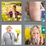 4 pics 1 word 8 letters allergic