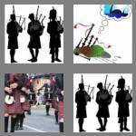 4 pics 1 word 8 letters bagpipes
