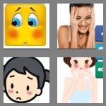 4 pics 1 word 8 letters blushing