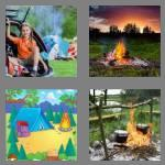 4 pics 1 word 8 letters campfire