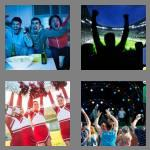 4 pics 1 word 8 letters cheering