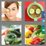 4 pics 1 word 8 letters cucumber