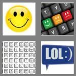 4 pics 1 word 8 letters emoticon