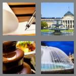 4 pics 1 word 8 letters fountain