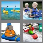 4 pics 1 word 8 letters kayaking
