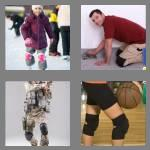 4 pics 1 word 8 letters kneepads