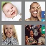 4 pics 1 word 8 letters laughing