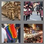 4 pics 1 word 8 letters marching