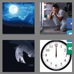 4 pics 1 word 8 letters midnight