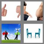 4 pics 1 word 8 letters opposite