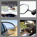 4 pics 1 word 8 letters rearview