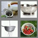 4 pics 1 word 8 letters strainer