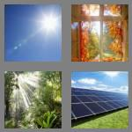 4 pics 1 word 8 letters sunlight