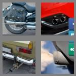 4 pics 1 word 8 letters tailpipe