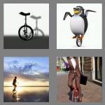 4 pics 1 word 8 letters unicycle