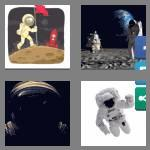 4 pics 1 word 9 letters astronaut