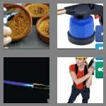 4 pics 1 word 9 letters blowtorch