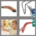 4 pics 1 word 9 letters boomerang