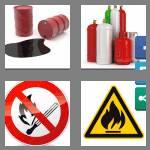 4 pics 1 word 9 letters flammable
