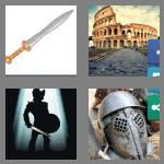 4 pics 1 word 9 letters gladiator