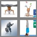 4 pics 1 word 9 letters headstand