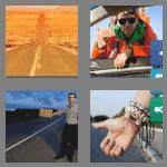 4 pics 1 word 9 letters hitchhike