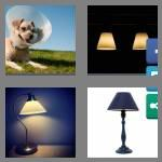 4 pics 1 word 9 letters lampshade