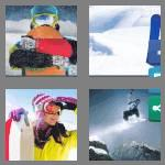 4 pics 1 word 9 letters snowboard
